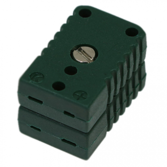Miniature double socket, type K, green