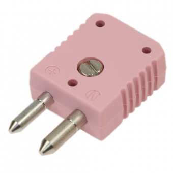 Standard thermocouple connector, type N, pink