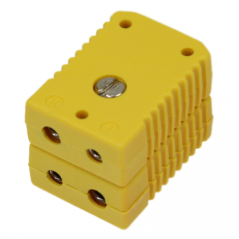 Standard double socket, type K, yellow