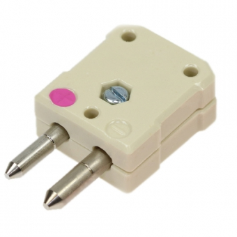 Standard ceramic thermocouple connector, type N, pink