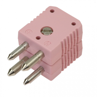 Standard double thermocouple connector, type N, pink