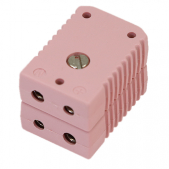 Standard double socket, type N, pink