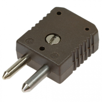HTK standard thermocouple connector, type J, brown, high temperature