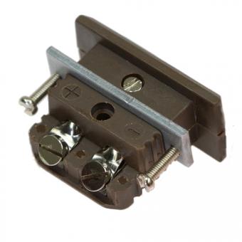 HTK Standard-Kupplungsdose, Typ J, braun, Hochtemperatur