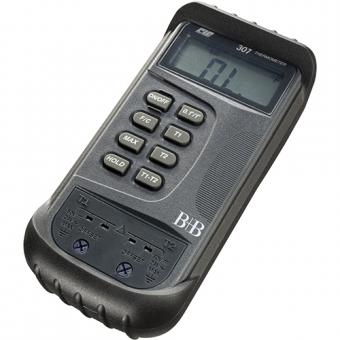 Digitalthermometer zum Anschluss von 2 Thermoelementen Typ K