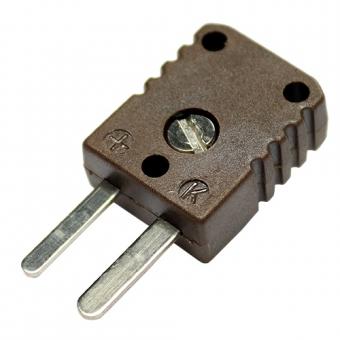 HTK-Miniaturstecker, Typ K, braun, Hochtemperatur