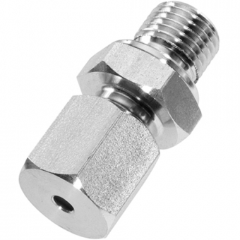 """Clamp connection, G1/4"""", stainless steel with adjustable compression ring out of stainless steel for Ø3 mm"""