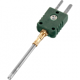 Mineral insulated thermocouple with miniature plug type K Ø1,0 NL50