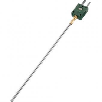 Mineral insulated thermocouple with miniature plug type K Ø3.0 NL150