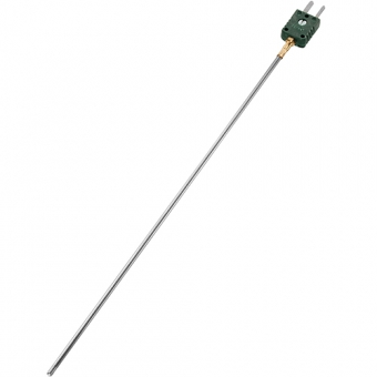 Mineral insulated thermocouple with miniature plug type K Ø1.5 NL1000