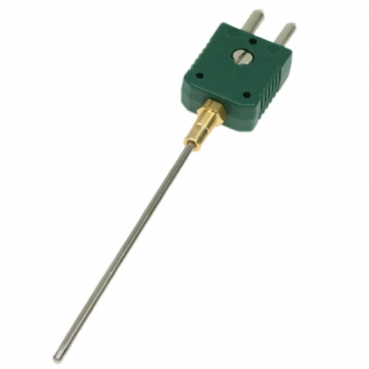 Mineral insulated thermocouple with standard plug , type K, Ø1,5 mm, NL500