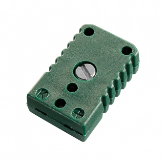 Miniature socket, type K, green