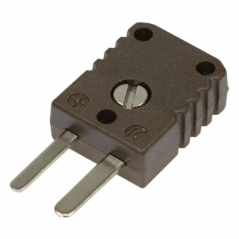 HTK miniature thermocouple connector, type N, brown, high temperature
