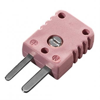 Miniature thermocouple connector, type N, pink