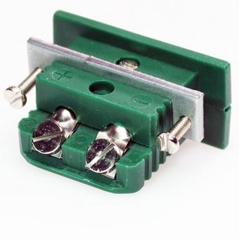 Standard panel socket, type K, green