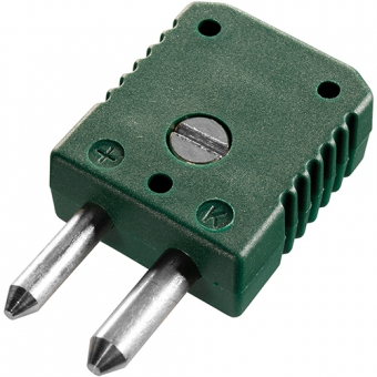 Standard thermocouple connector, type K, green