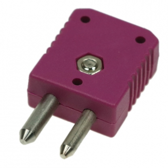Standard thermocouple connector type E, violet