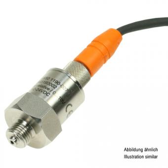 """Drucktransmitter Edelstahl G1/4"""" -1-1bar relativ 10V M12-Steckerbuchse"""