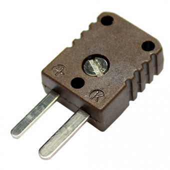 HTK-miniature thermocouple connector, type K, brown, high temperature