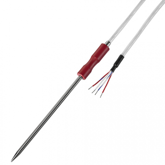 Penetration temperature probe 1xPt1000/B/4, nominal length 100 mm with ergonomic handle made of PEEK