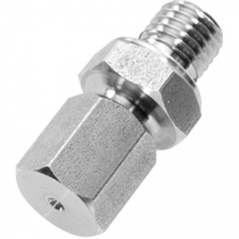 Clamp connection, M8x1, stainless steel with adjustable compression ring out of stainless steel for Ø1.5 mm