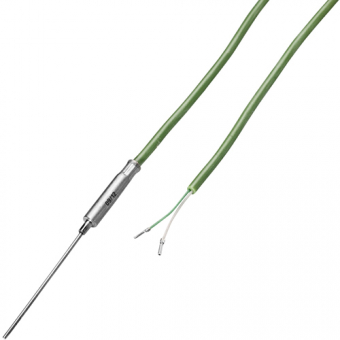 Mineral insulated thermocouple with 2 m silicon cable type K Ø1.0 NL100