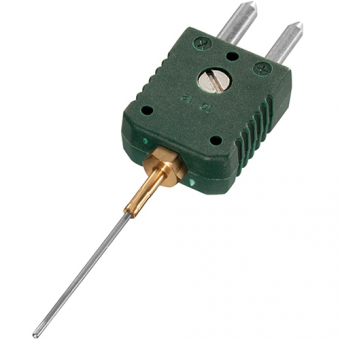 Mineral insulated thermocouple with standard plug , type K, Ø1.5 mm, NL100
