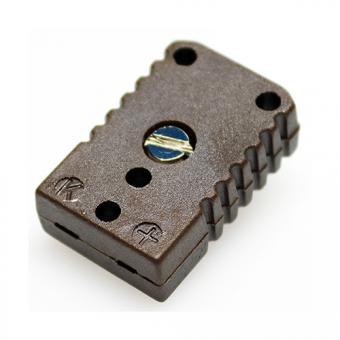 HTK-Miniature socket, type K, brown, high temperature