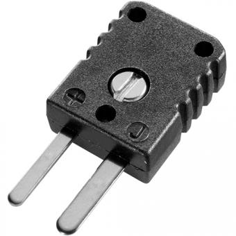 Miniature thermocouple connector, type J, black