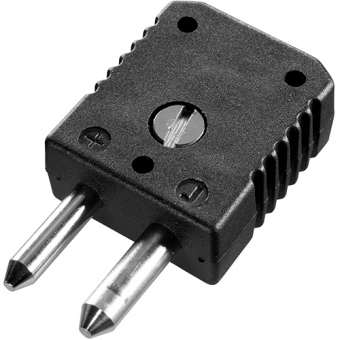 Standard thermocouple connector, type J, black