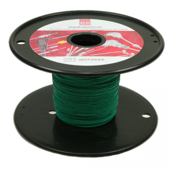 Thermodraht 2 x 0,5 mm, Typ K NiCr-Ni, Glasseide umsponnen, 100 m