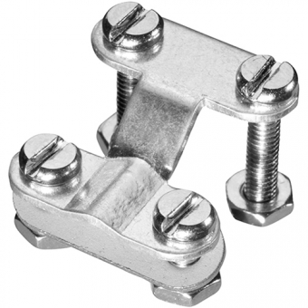 Cable clamp for miniatur panel socket