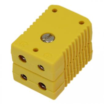 Standard double socket, type K, yellow