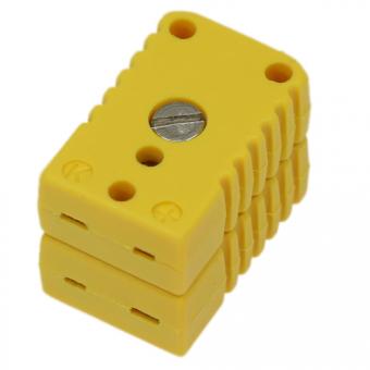 Miniature double socket, type K, yellow