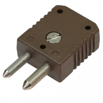 HTK standard thermocouple connector type J, brown, high temperature