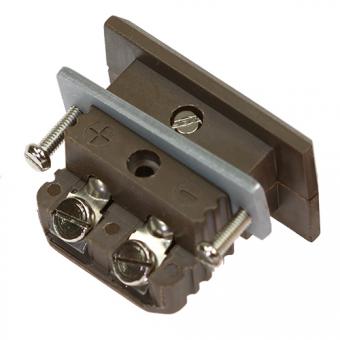 HTK standard panel socket, type N, brown, high temperature