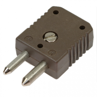 HTK standard thermocouple connector, type K, brown, high temperature