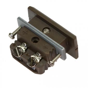 HTK standard panel socket, type K, brown, high temperature