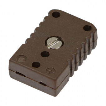 HTK miniature socket, type N, brown, high temperature
