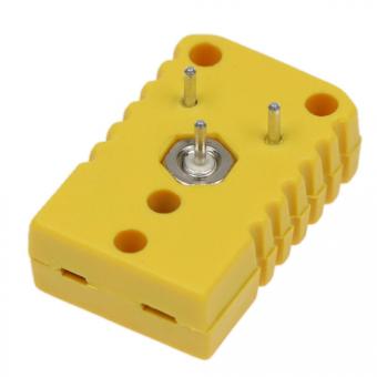 Miniaturkupplung für LP(Leiterplatten)-Montage, Typ K, gelb