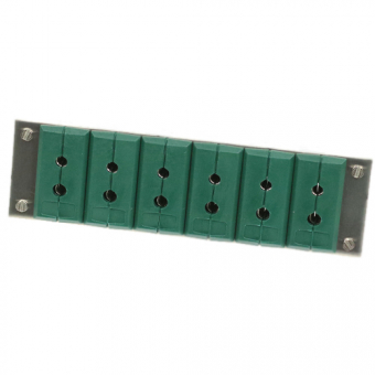 Panel with single standard Socket case type K, 6 socket case/1 series