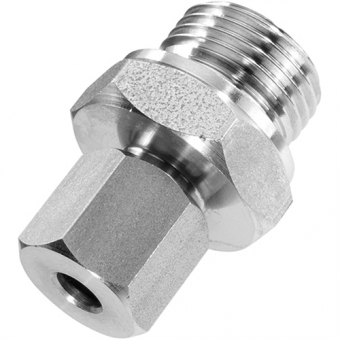 "Clamp connection, G1/2"", stainless steel with adjustable compression ring out of PTFE for Ø12 mm"