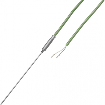 Mineral insulated thermocouple with 2 m silicon cable type K Ø1.0 NL250