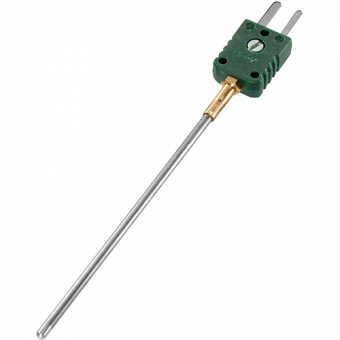 Mineral insulated thermocouple with miniature plug type K Ø1.5 NL250