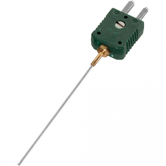 Mineral insulated thermocouple with standard plug , type K, Ø1.5 mm, NL500