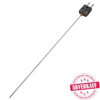 Mantelthermoelement mit Miniaturstecker und Miniaturkupplung Typ J, Klasse 1