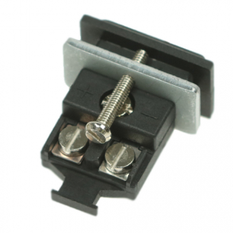 Miniature panel socket type J, black