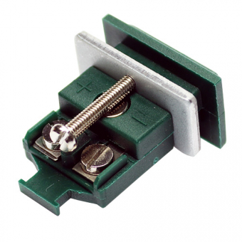 Miniature panel socket, type K, green