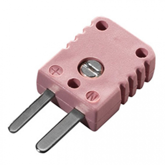 Miniature thermocouple connector type N, pink