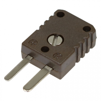 HTK miniature thermocouple connector type N, brown, high temperature